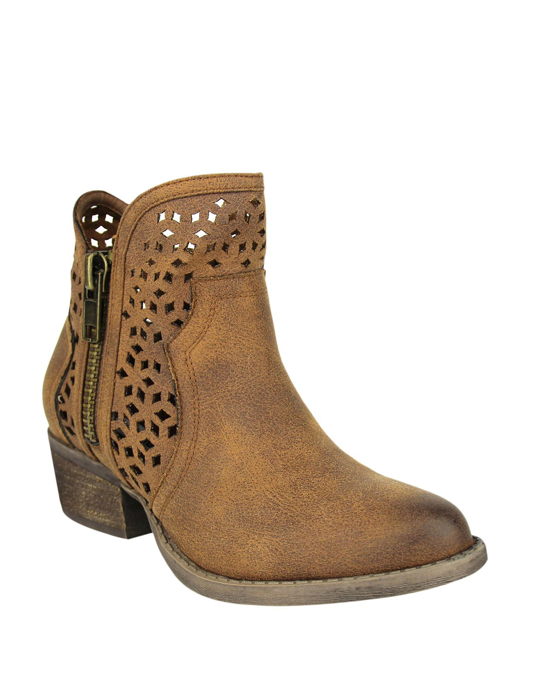 Not Rated Tan Ankle Boots & Booties