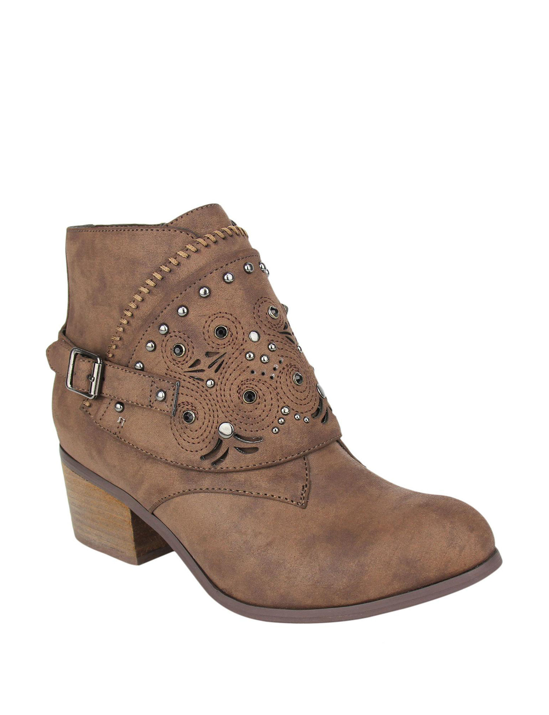 Not Rated Dark Brown Ankle Boots & Booties