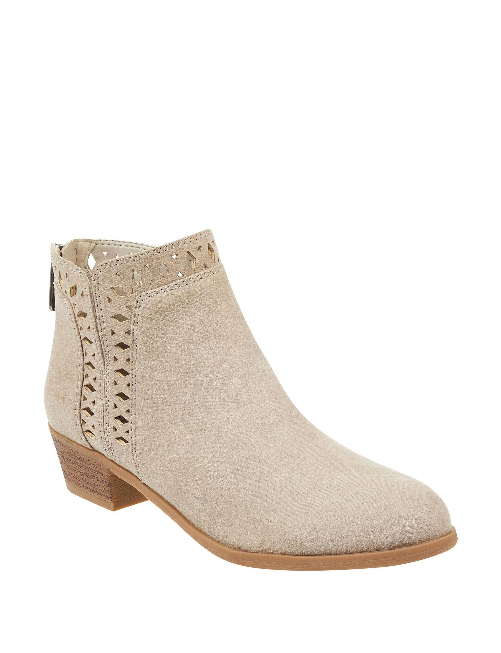 Indigo Rd. Beige Ankle Boots & Booties