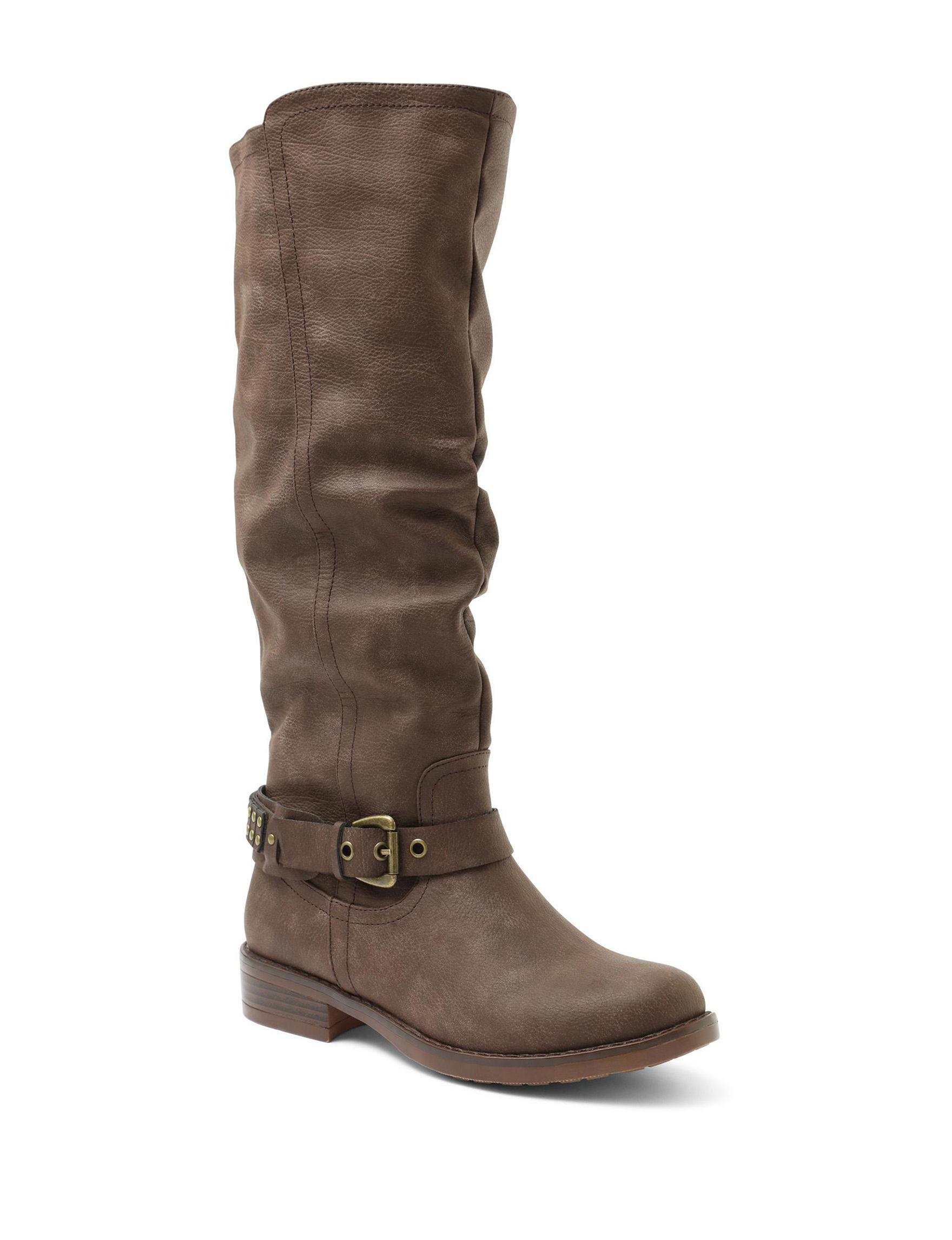 XOXO Brown Riding Boots Wide Calf