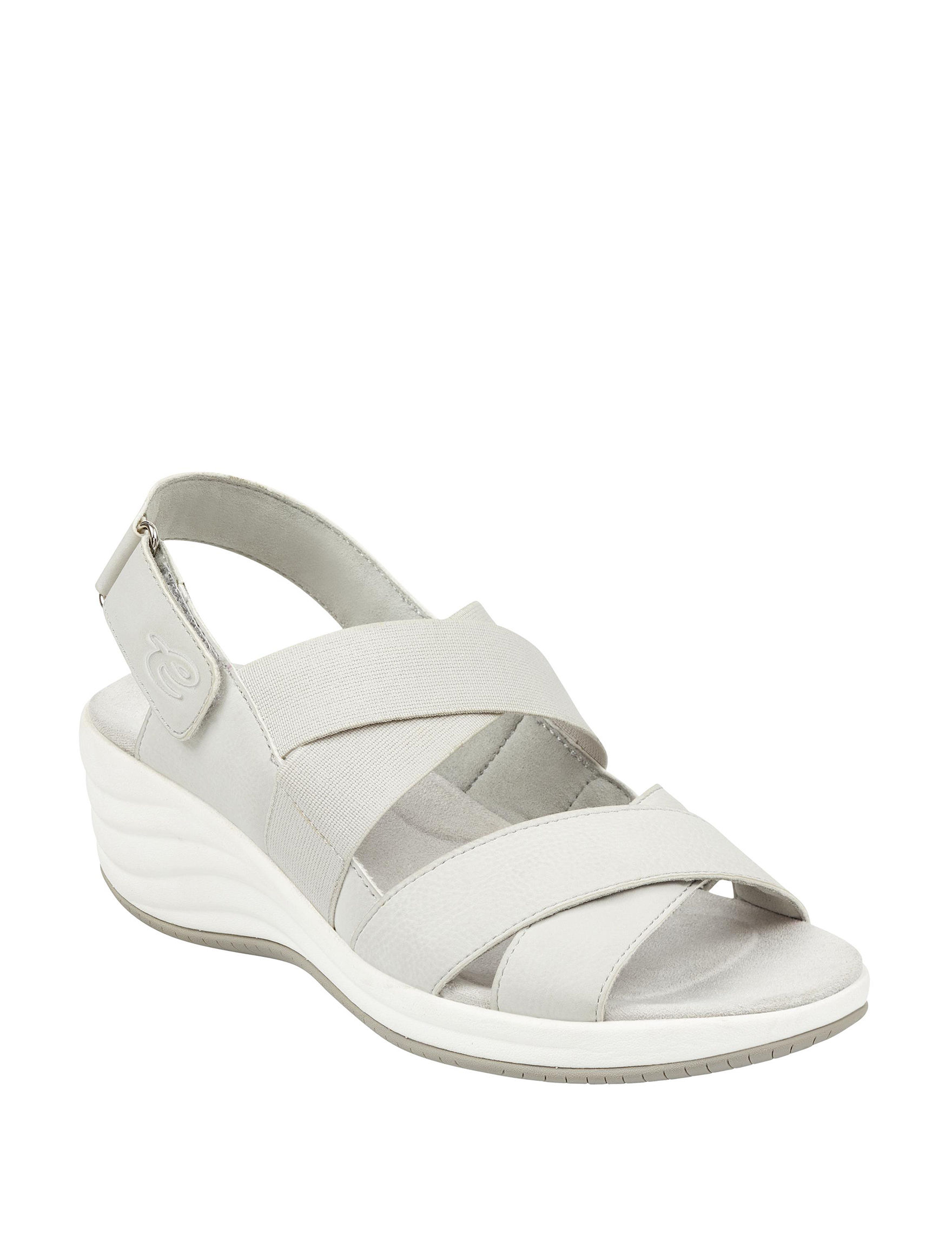 Easy Spirit Grey Wedge Sandals