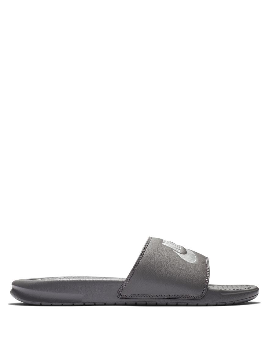 Nike Grey Slide Sandals