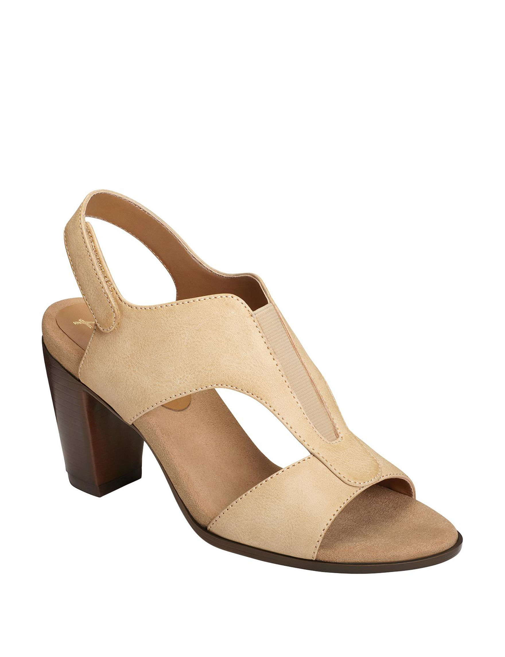 A2 by Aerosoles Tan Heeled Sandals