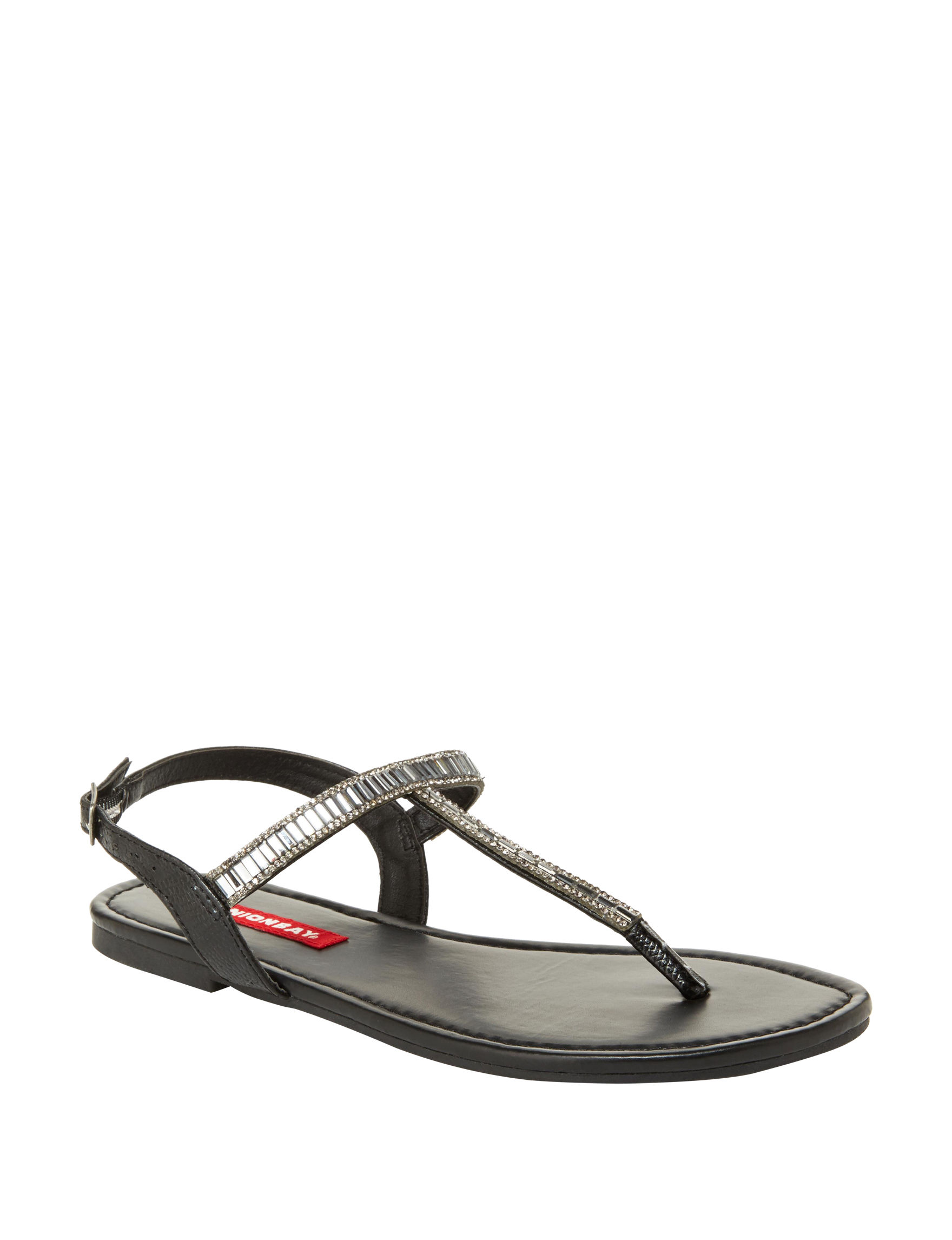 Unionbay Black Flat Sandals