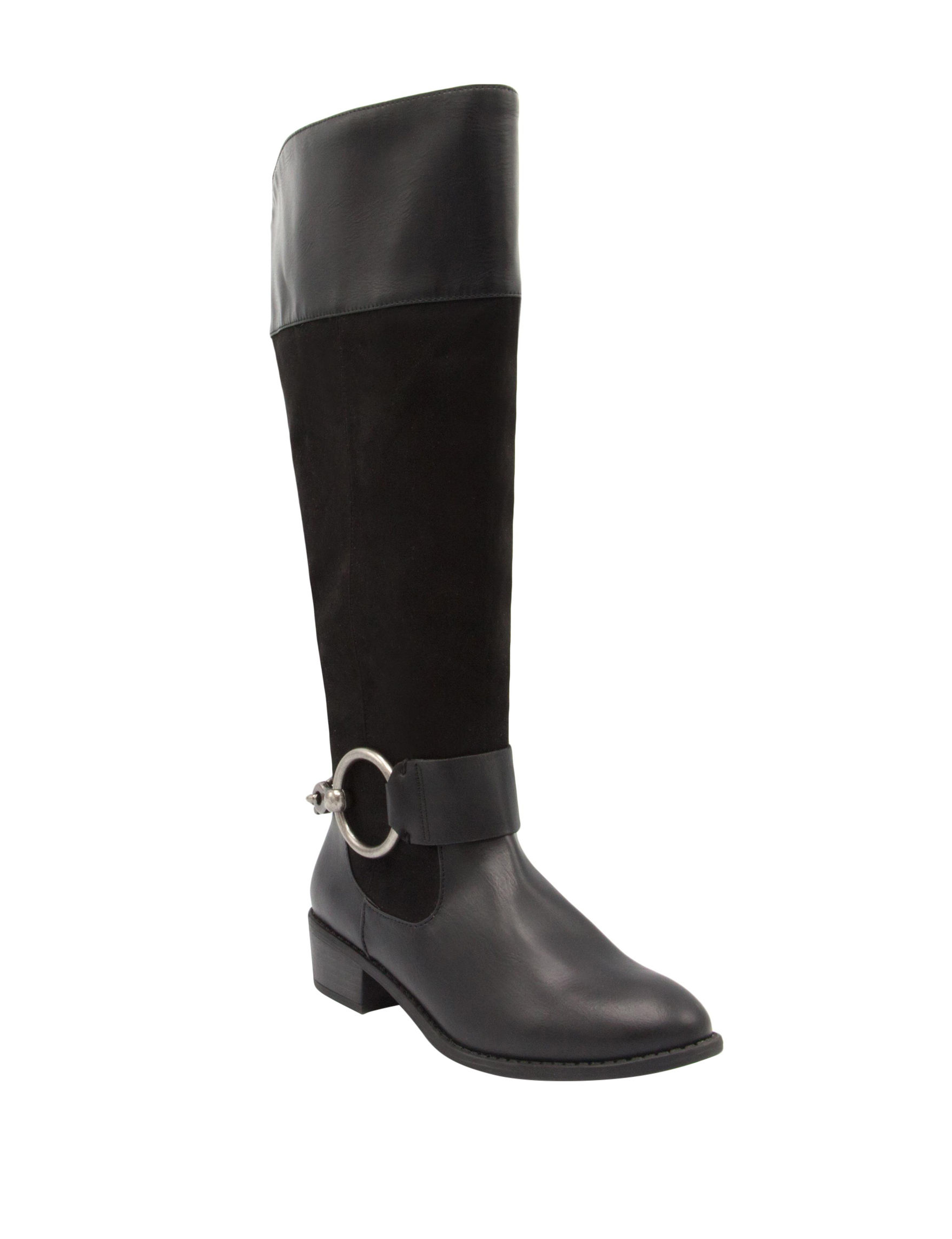 Rampage Imaron Womens Wide Calf Boots (Black)