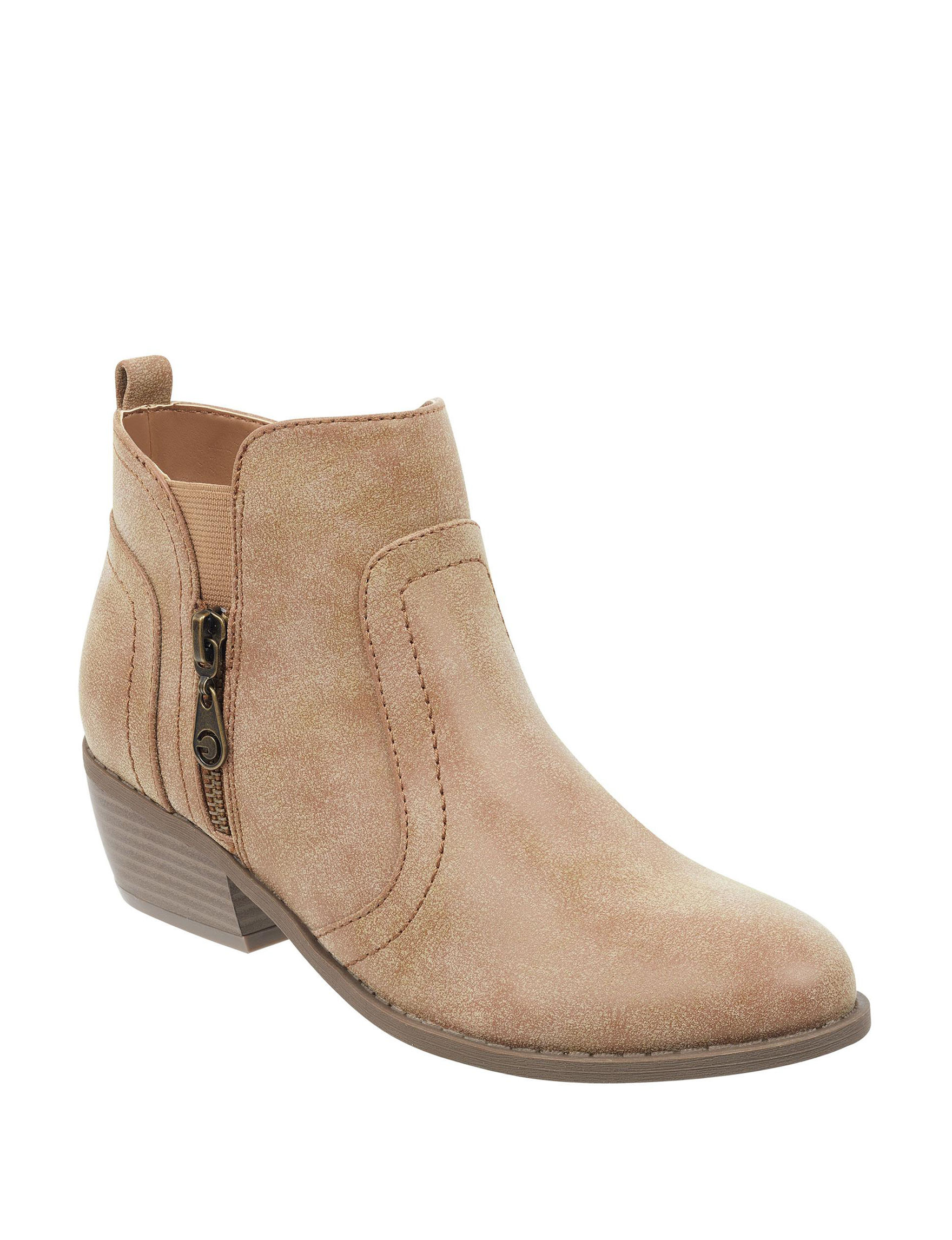 G by Guess Beige Ankle Boots & Booties