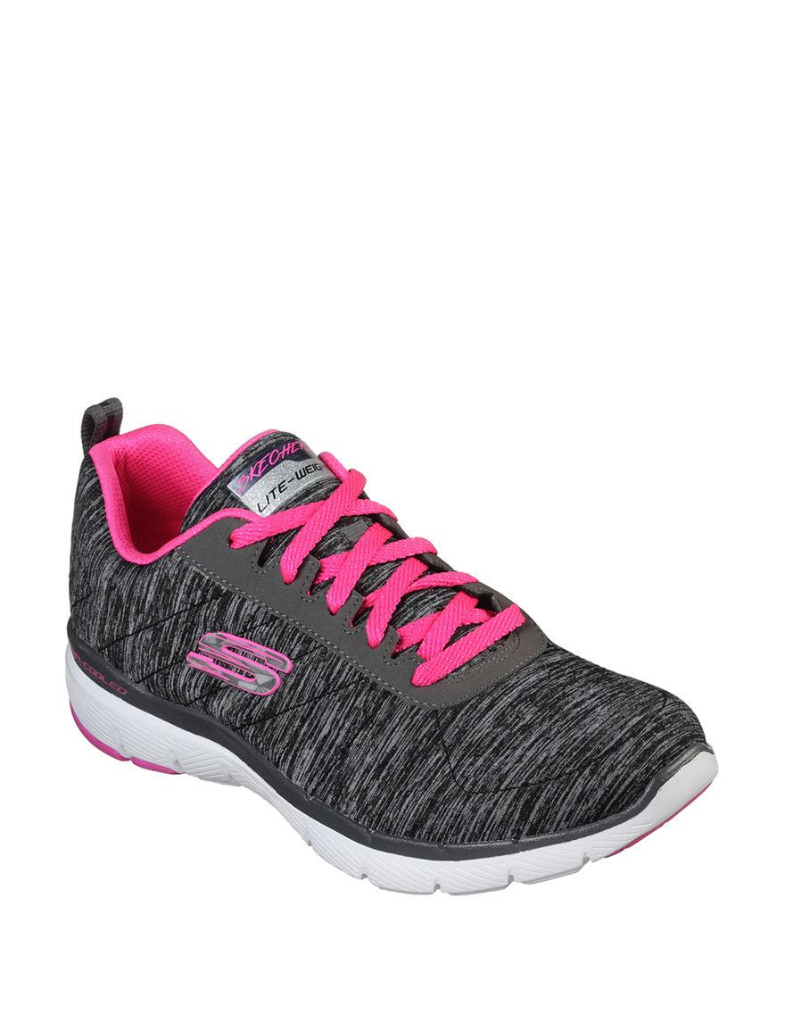 Skechers Black / Pink Comfort Stretch