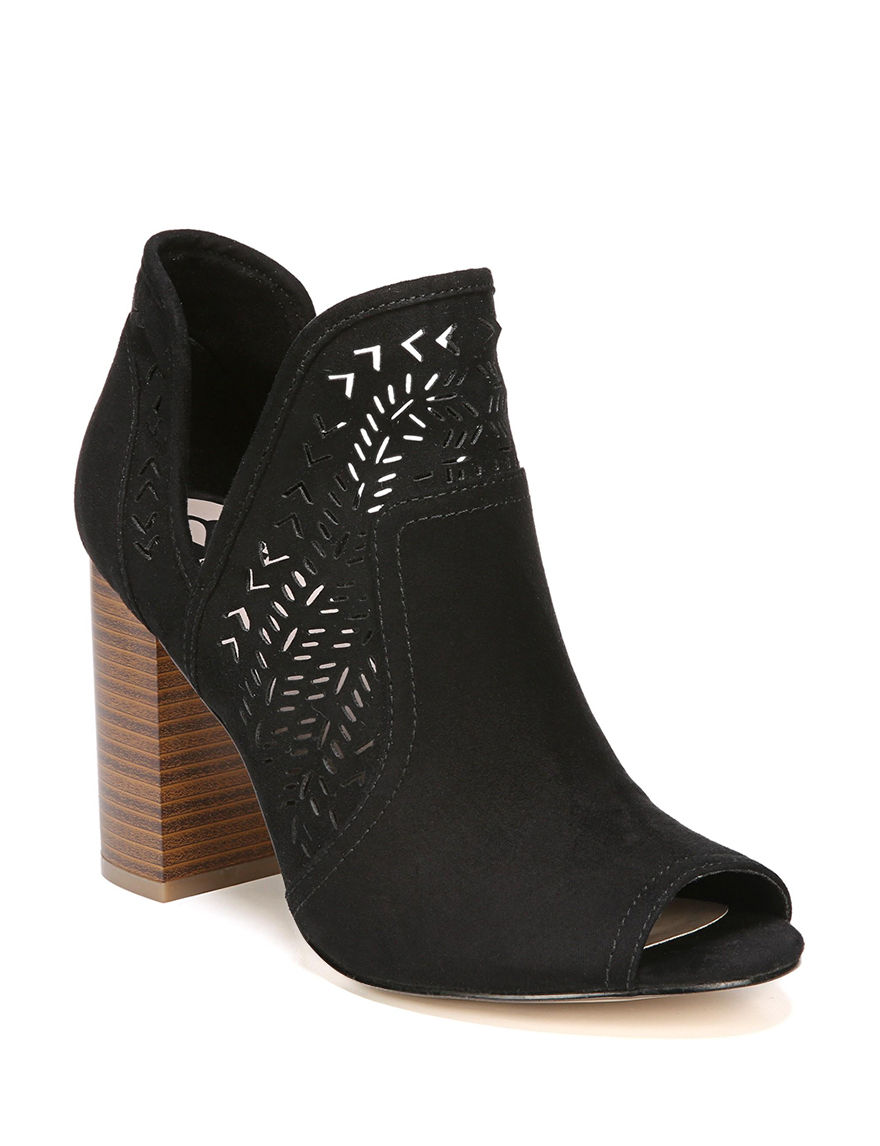 Fergalicious by Fergie Black Ankle Boots & Booties Peep Toe