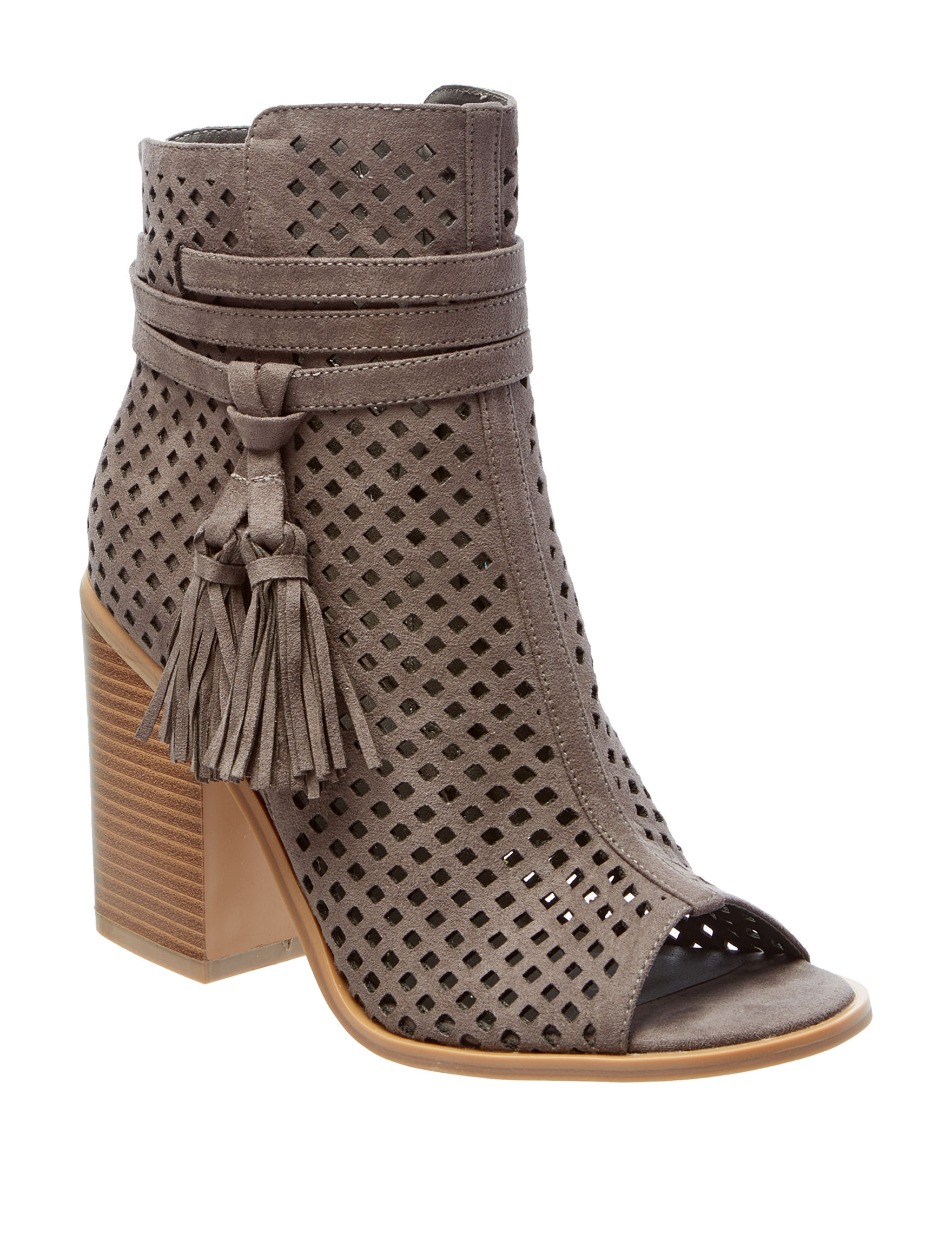 London Rag Charcoal Ankle Boots & Booties Peep Toe