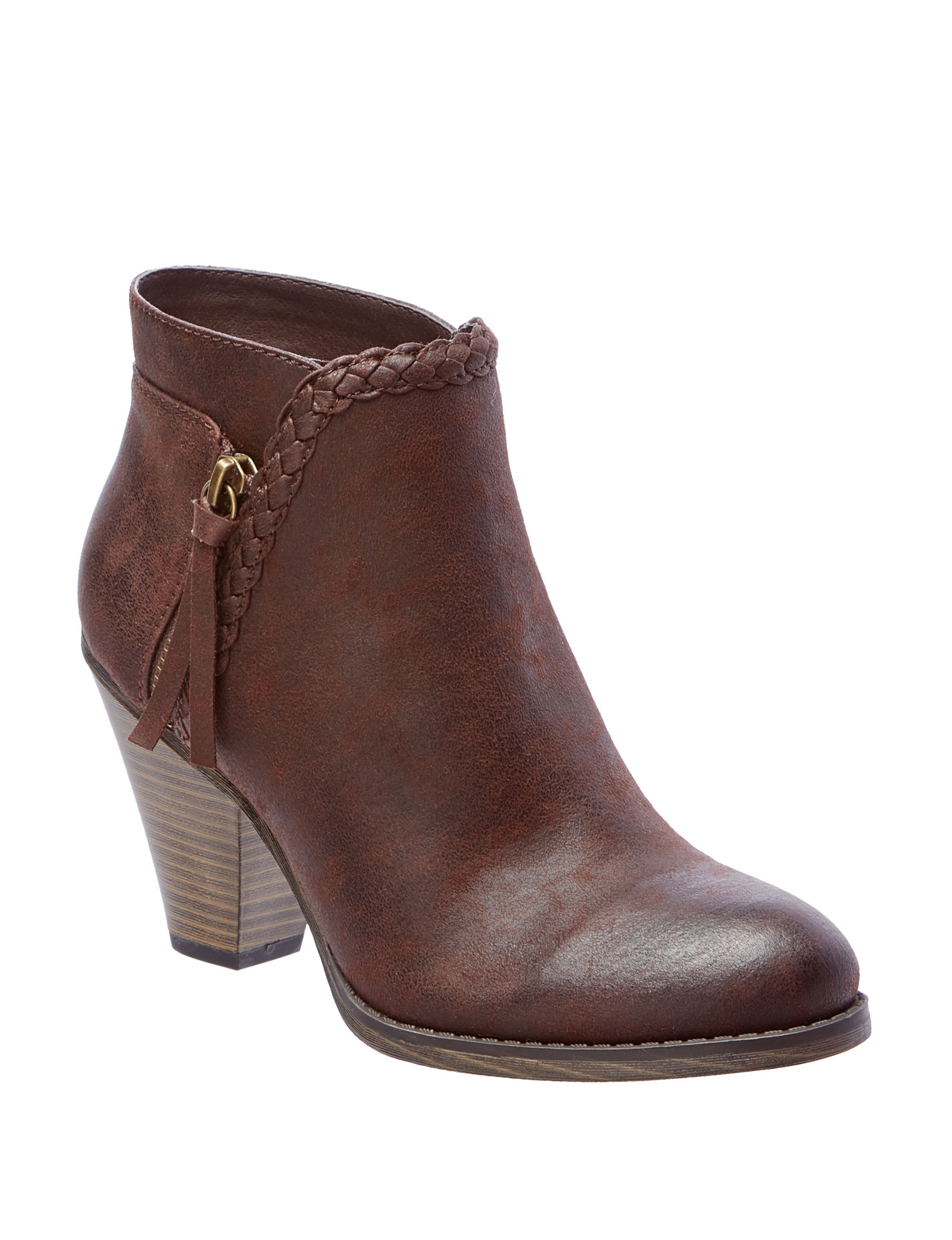 MIA Dark Brown Ankle Boots & Booties