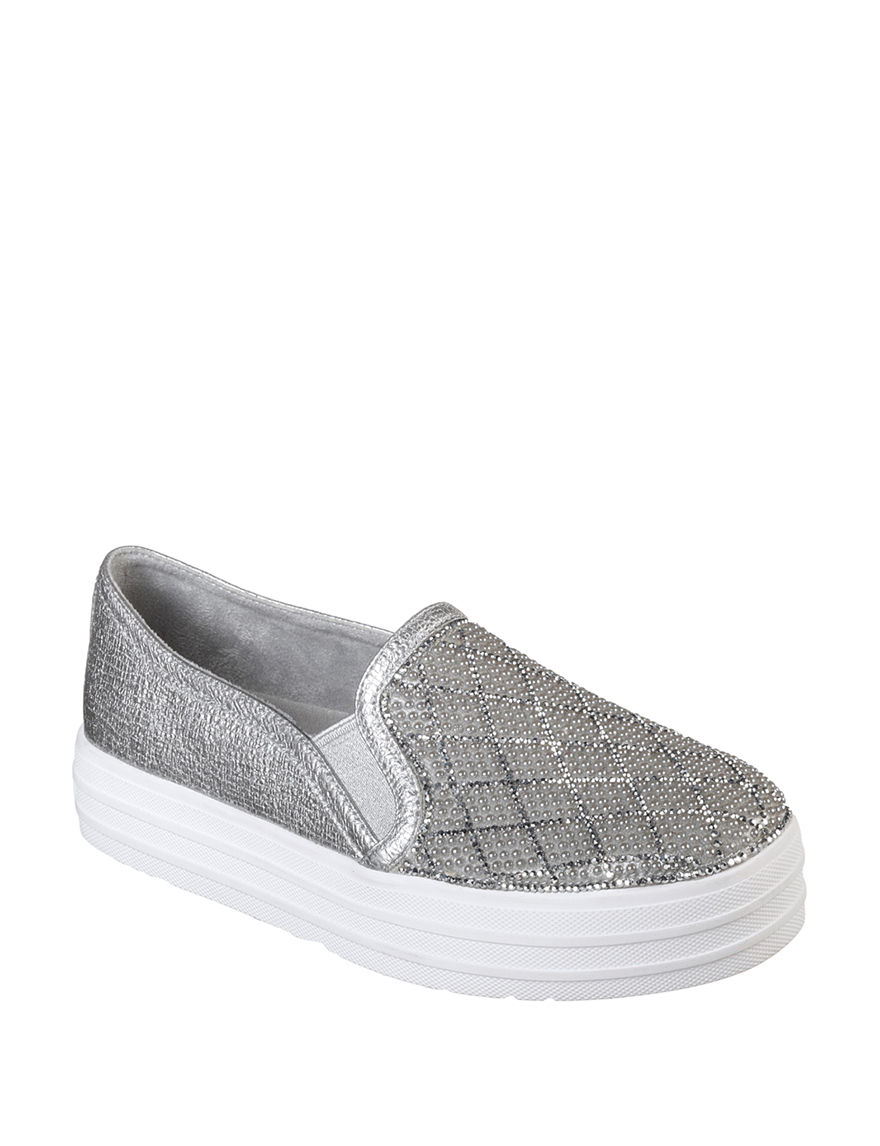 Skechers Silver / White Comfort Shoes