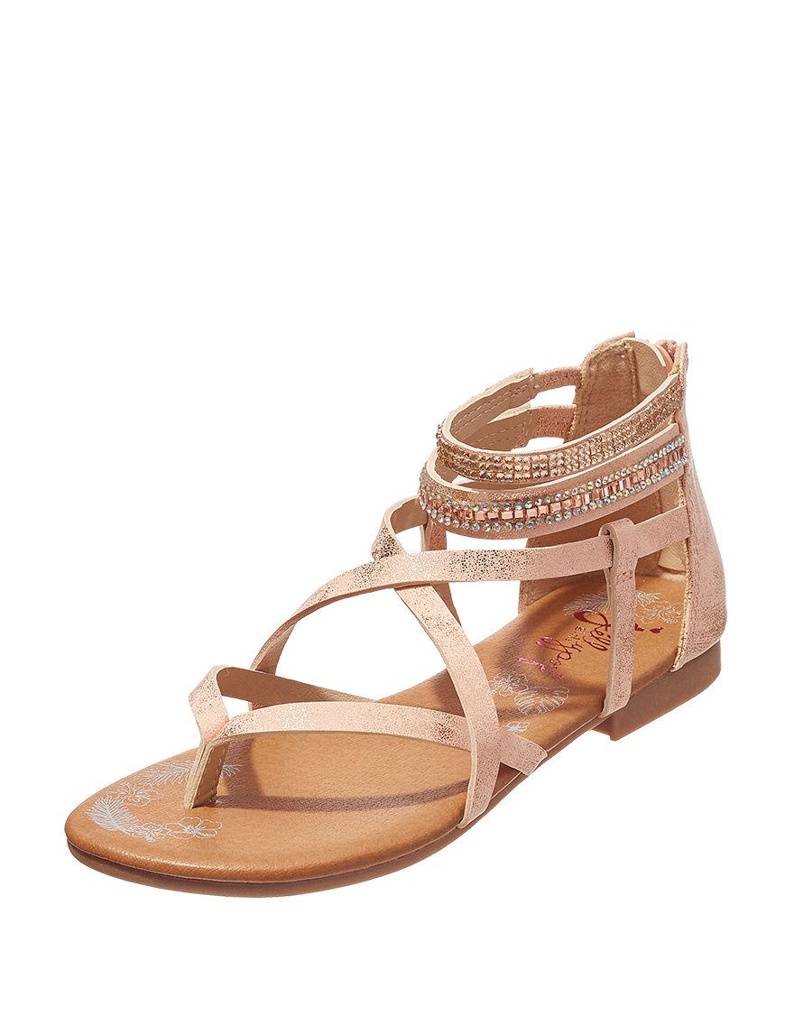 Jellypop Rose Gold Flat Sandals