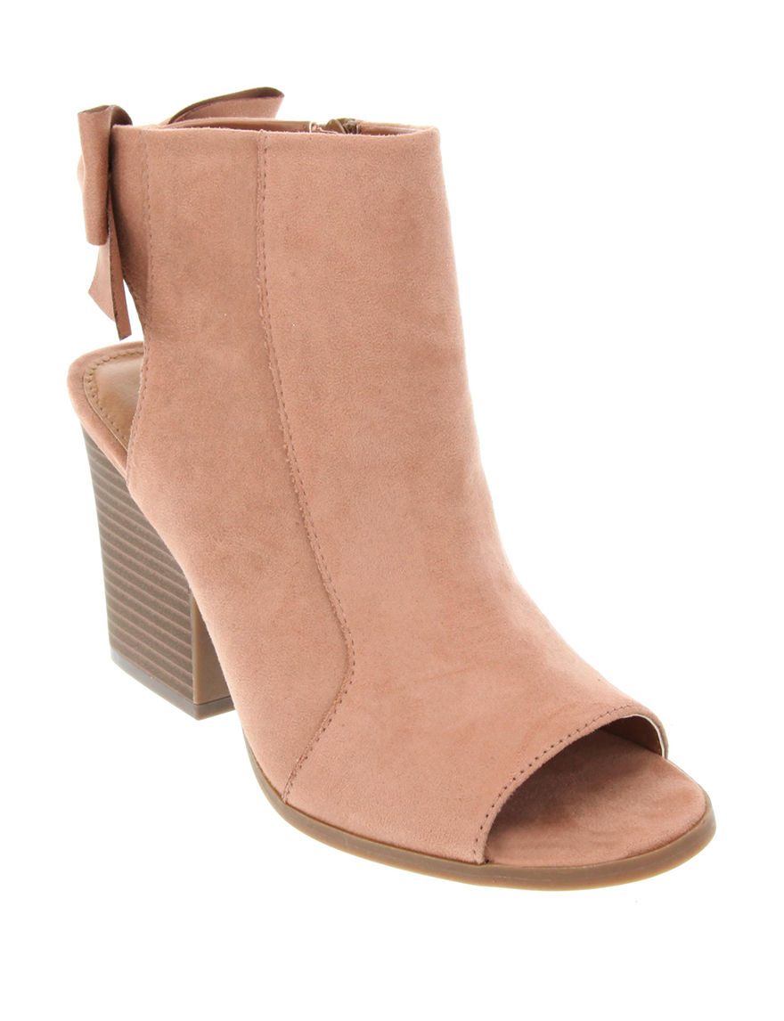 Rampage Mauve Ankle Boots & Booties Peep Toe