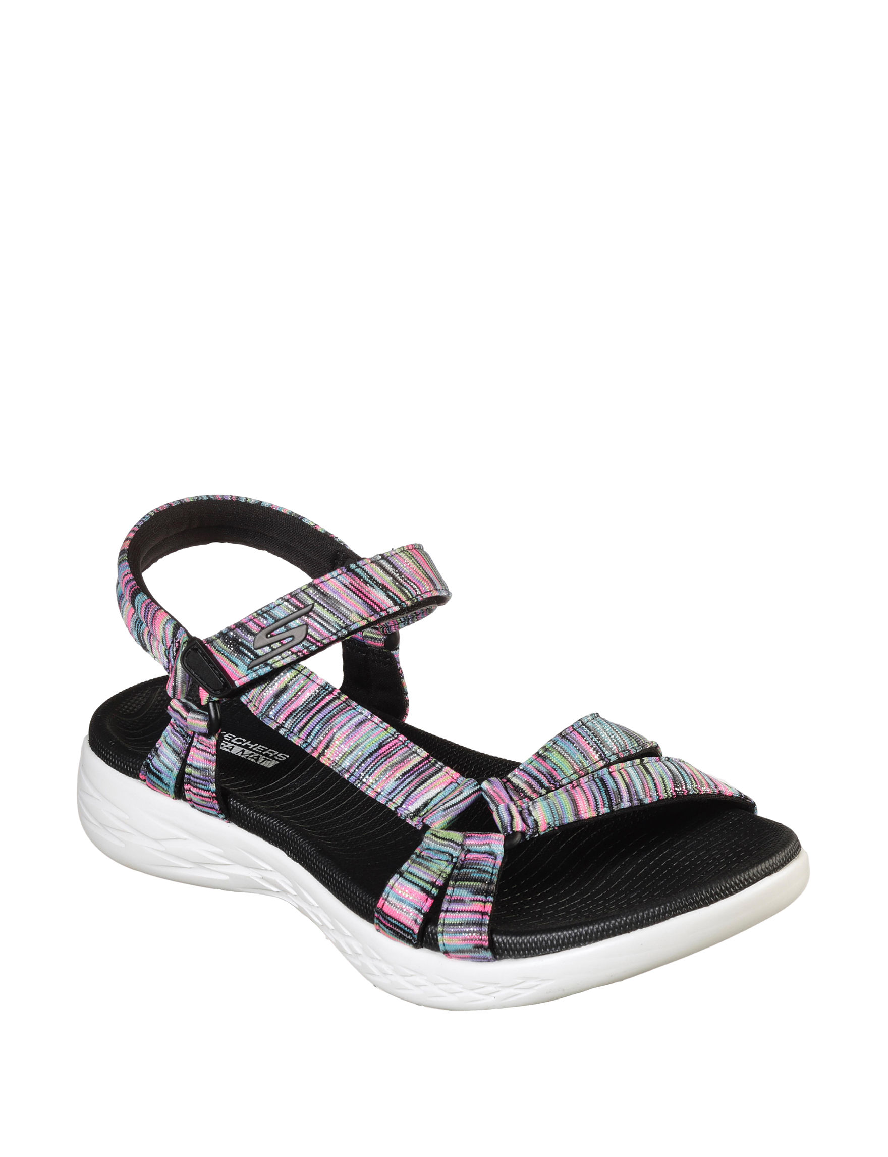Skechers Black / Multi Sport Sandals