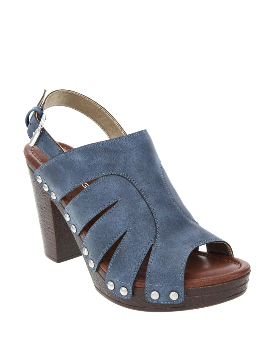 Rampage Blue Heeled Sandals