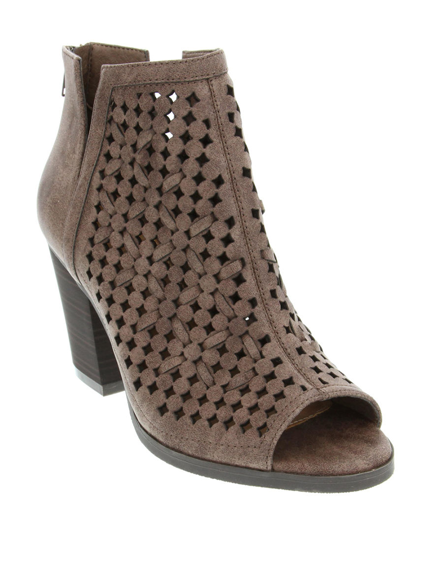 Sugar Brown Ankle Boots & Booties Peep Toe