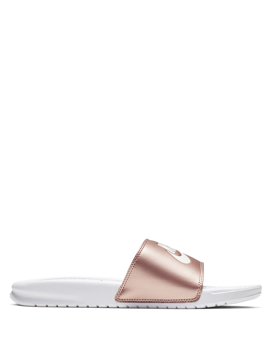 Nike Rose Gold Slide Sandals Sport Sandals