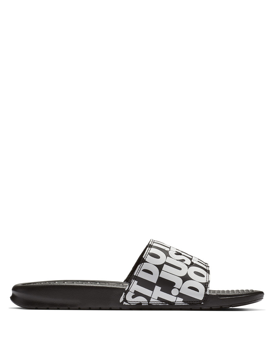 Nike Black / White Slide Sandals