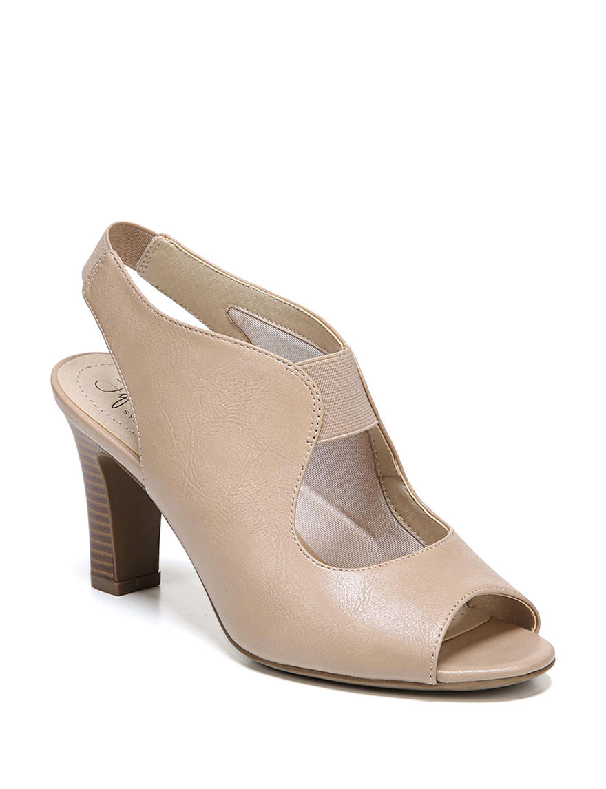 Lifestride Medium Beige Heeled Sandals