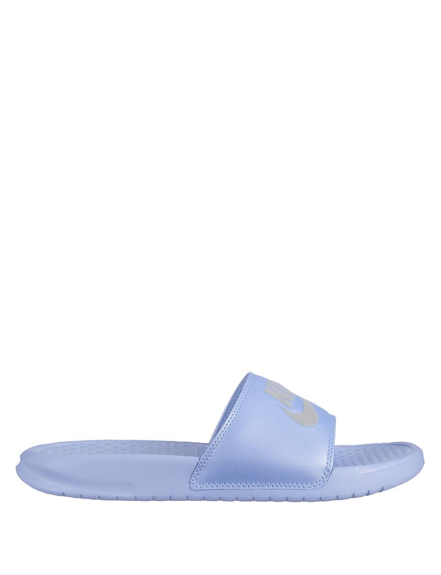 Nike Light Blue Slide Sandals