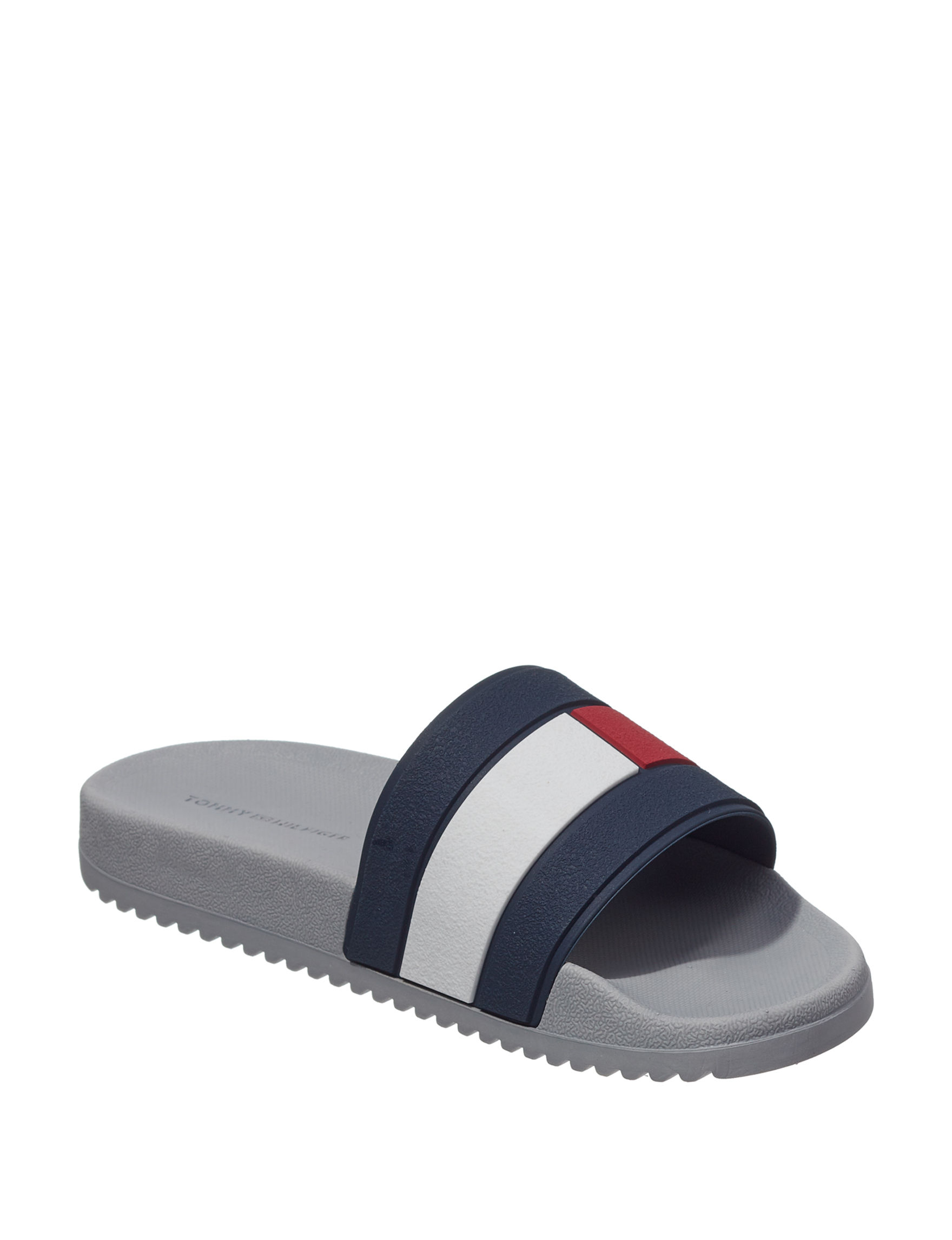 Tommy Hilfiger Charcoal Slide Sandals