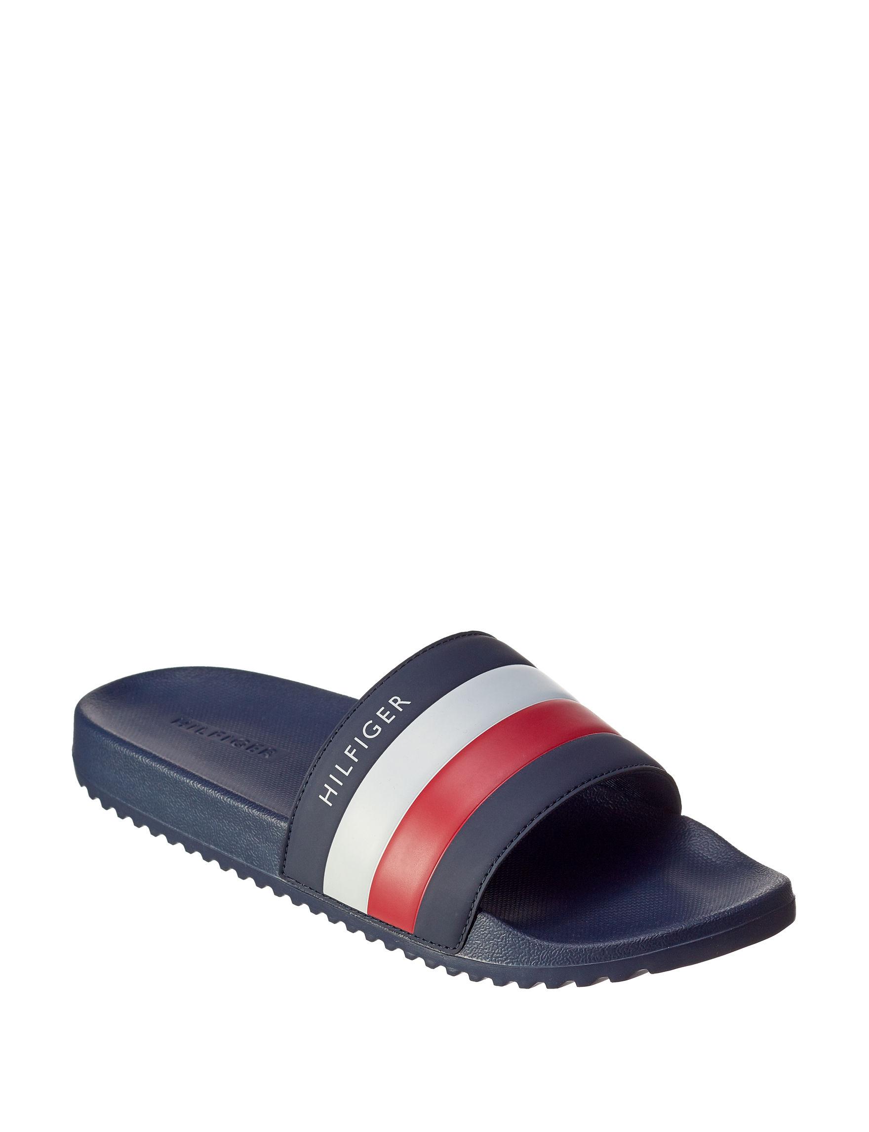 Tommy Hilfiger Navy Slide Sandals
