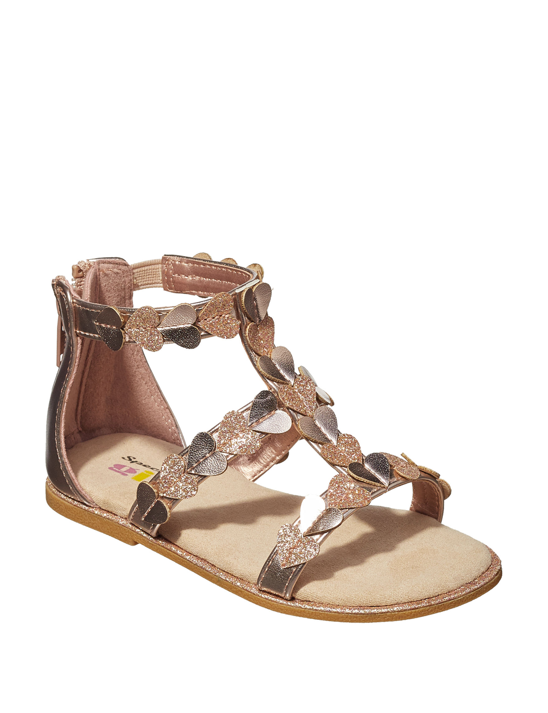 Specialty Girl Rose Gold Flat Sandals