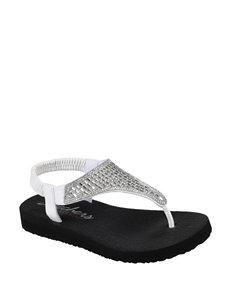 d38dc1a1dac Doorbuster Skechers White Flat Sandals