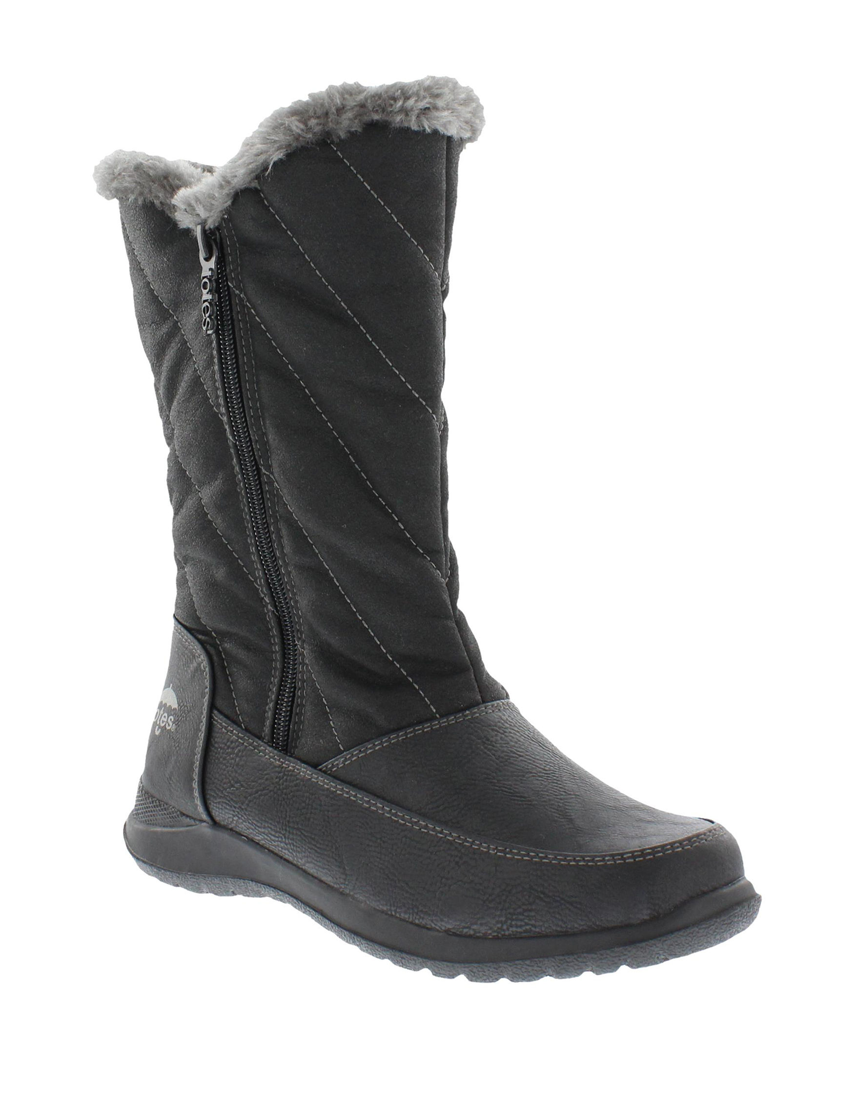 Totes Black Winter Boots
