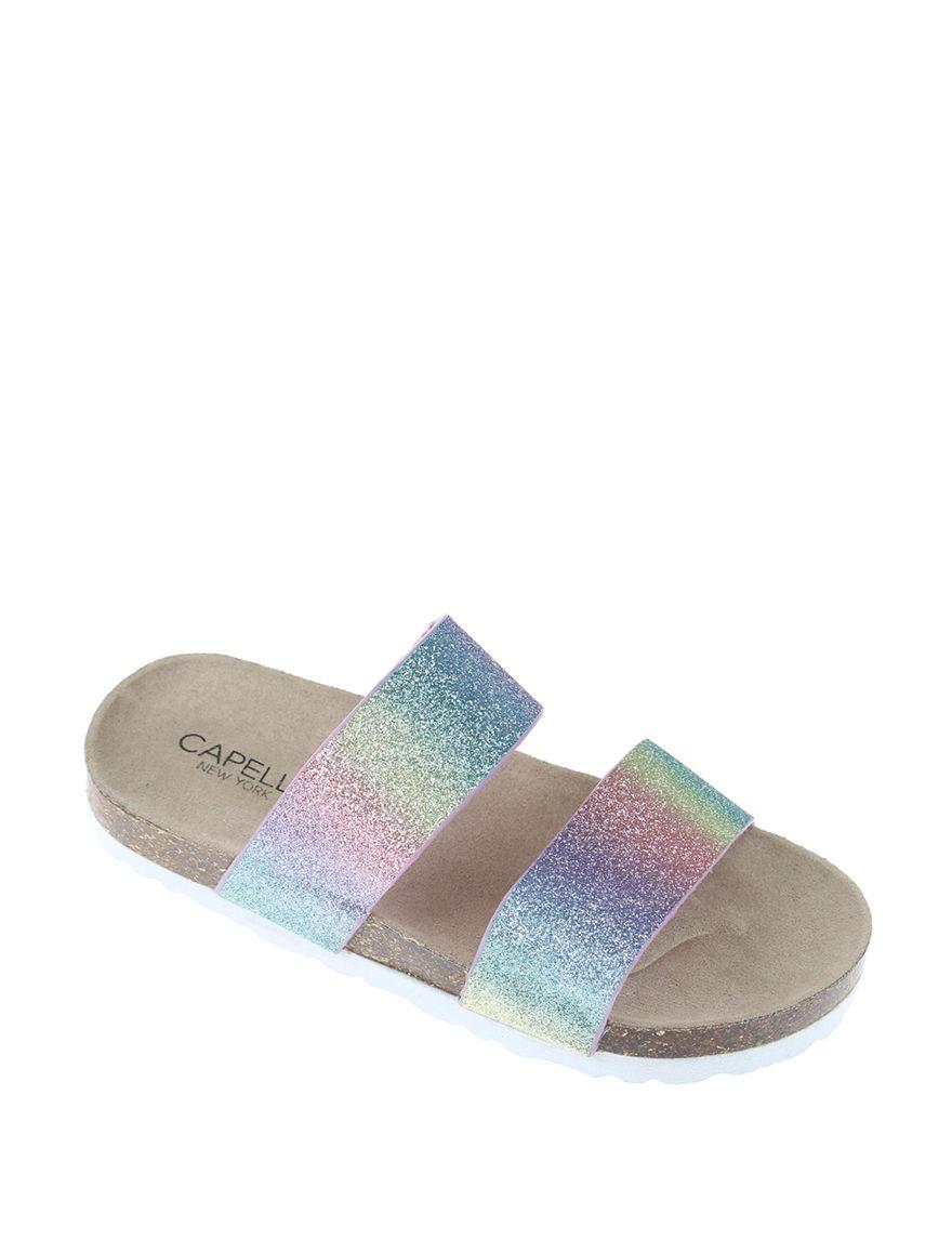 Capelli Pink Multi Flat Sandals