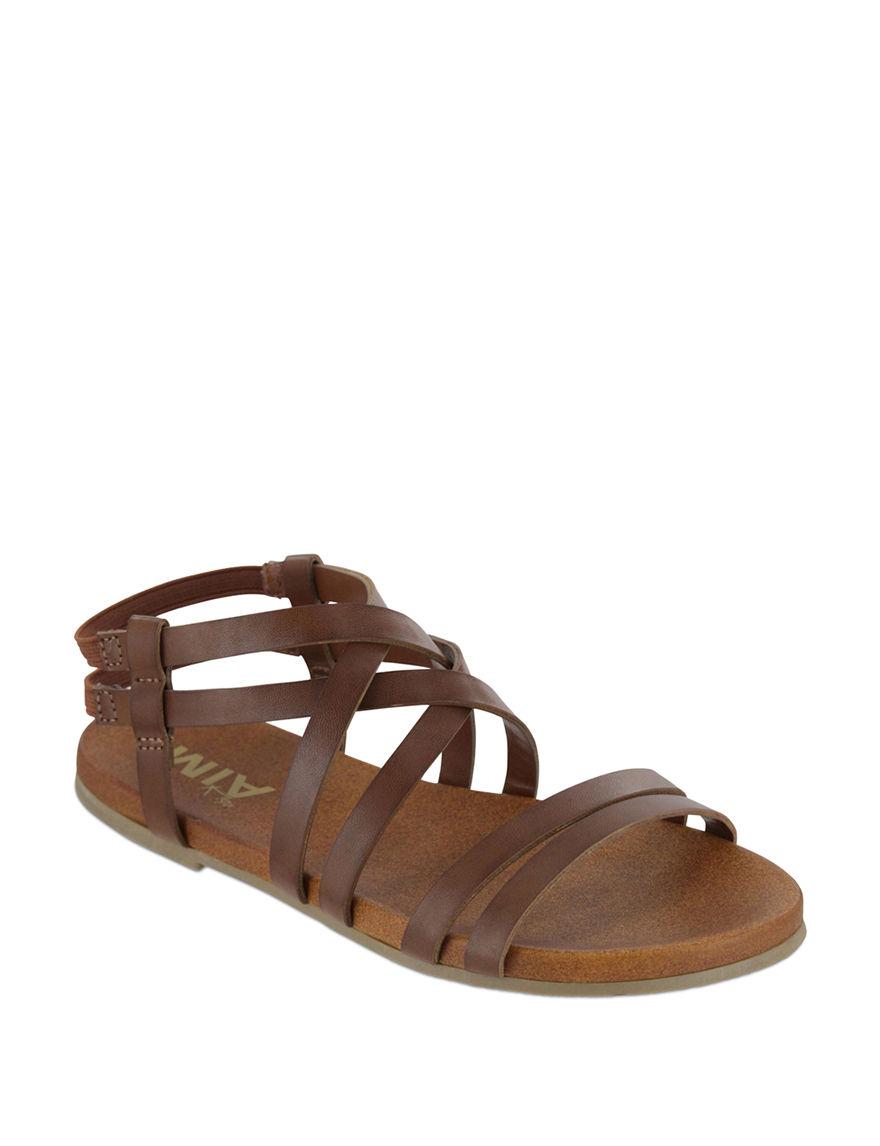 MIA Brown Flat Sandals