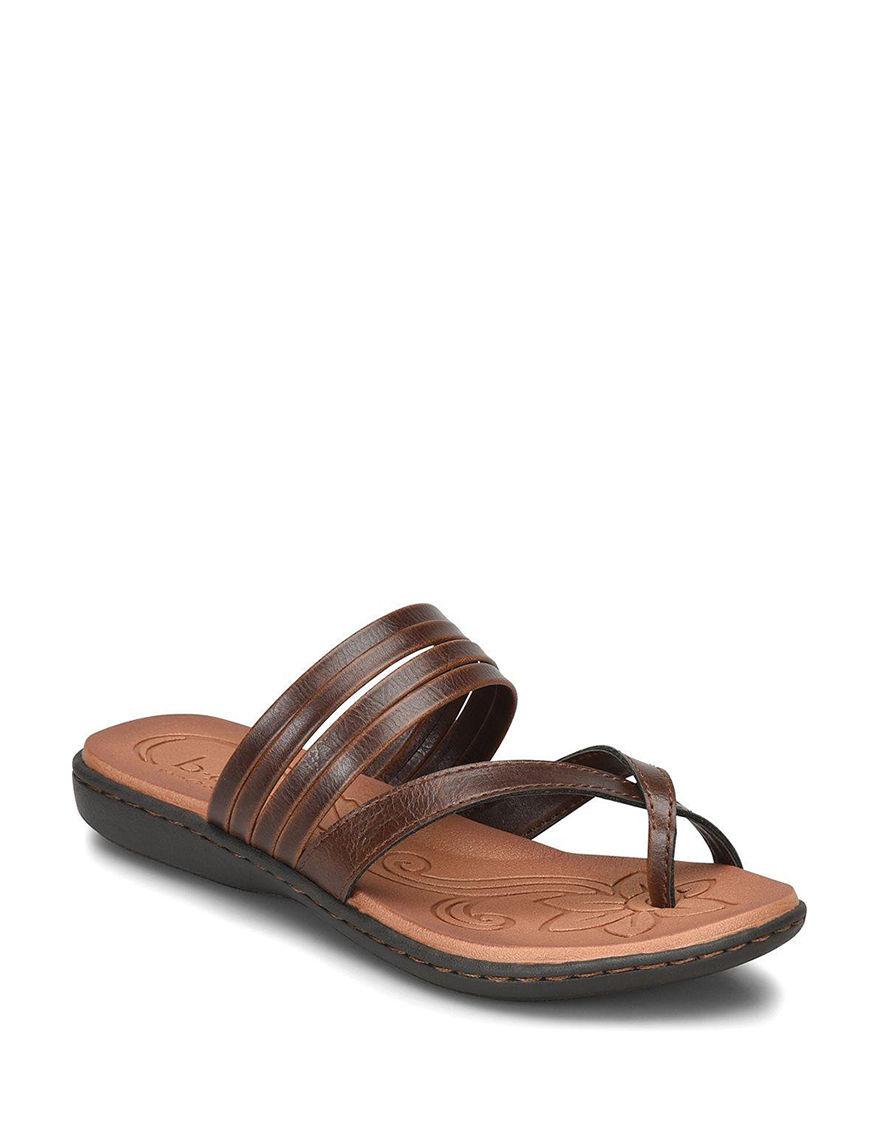 B.O.C. Brown Flat Sandals