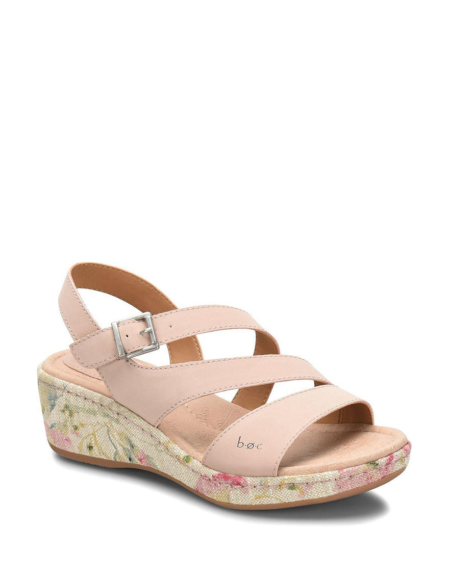 B.O.C. Blush Wedge Sandals