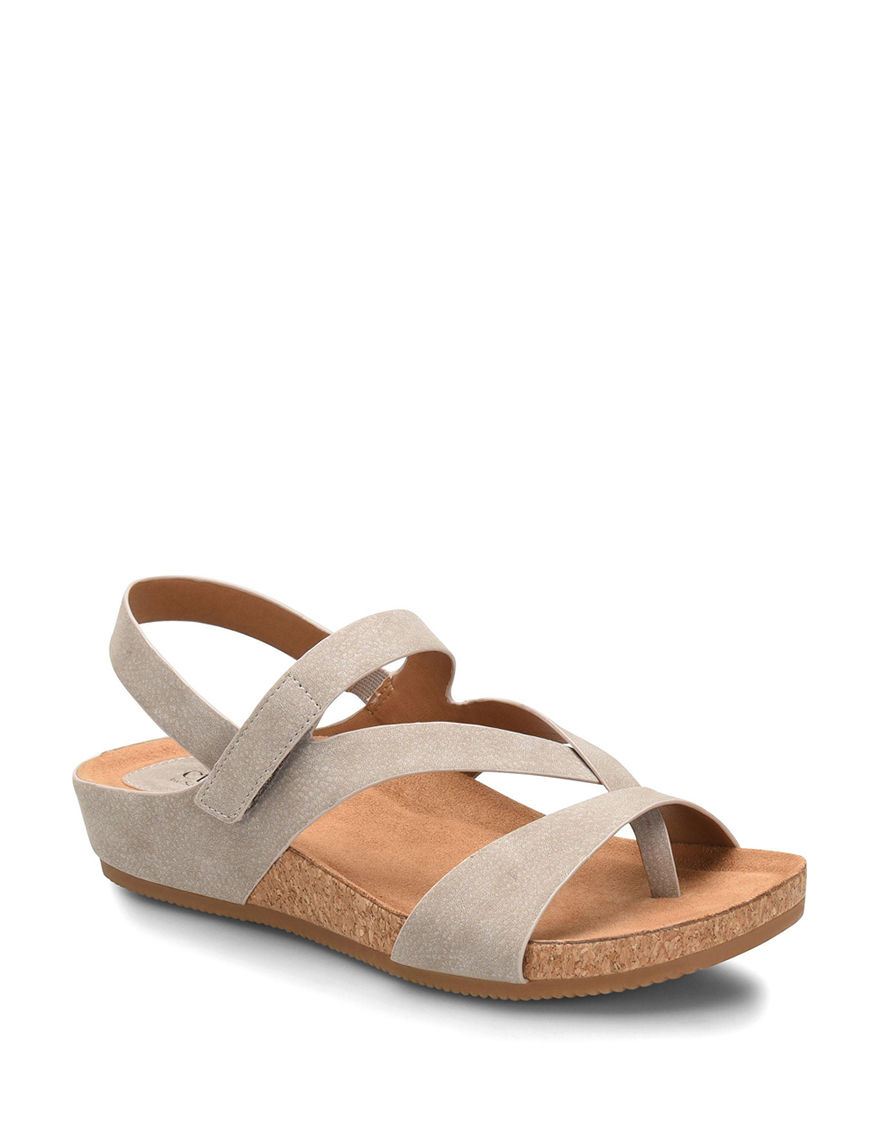 Eurosoft Beige Wedge Sandals