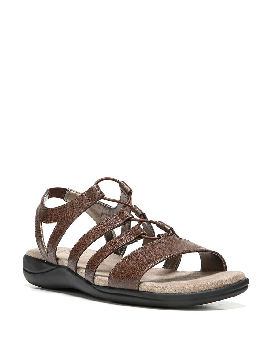 Lifestride Brown Flat Sandals