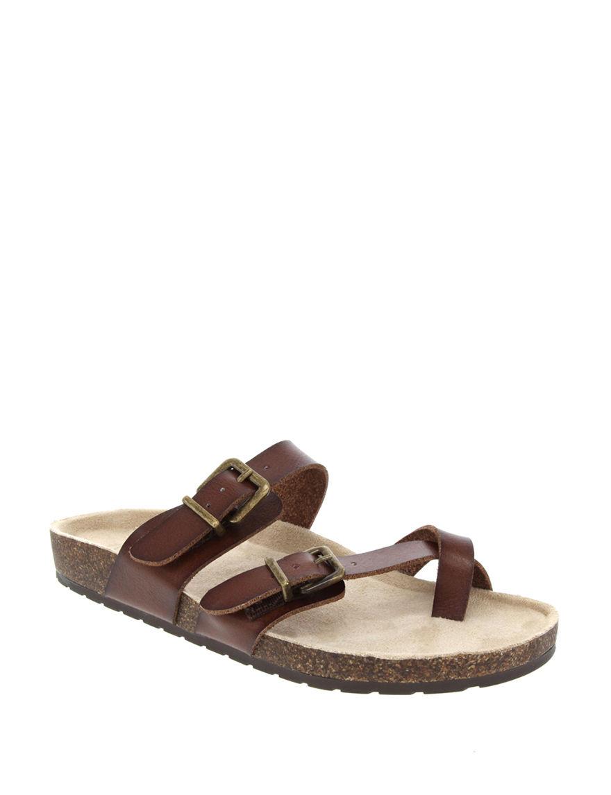 Sugar Brown / Beige Flat Sandals