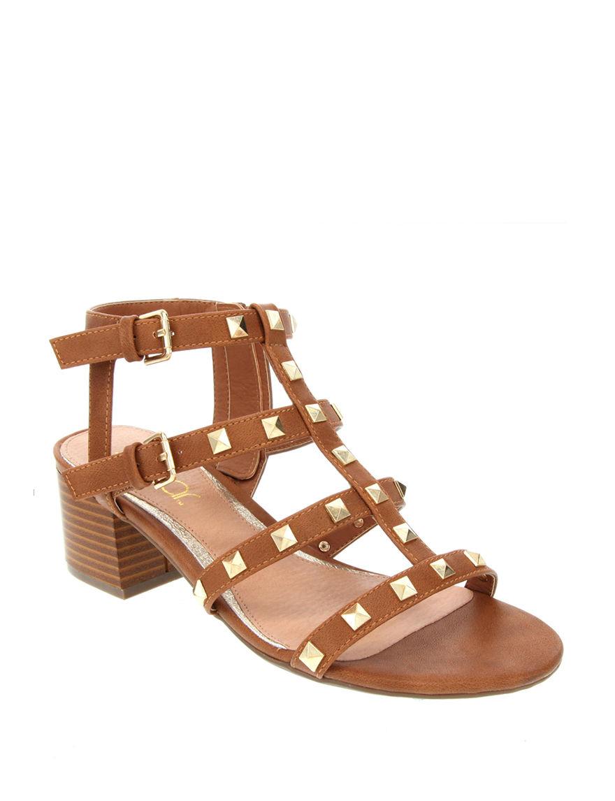 Sugar Tan / Gold Heeled Sandals