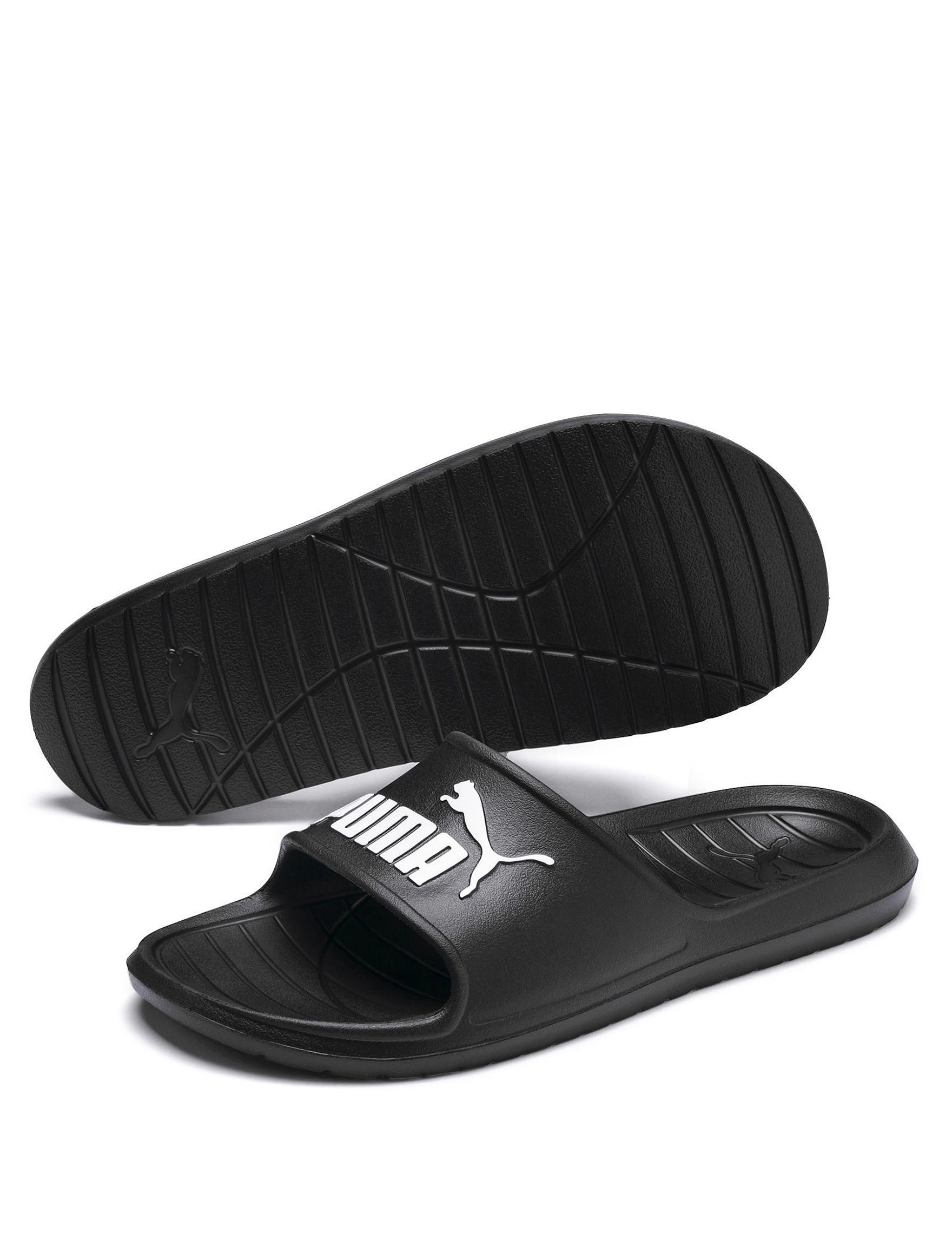 Puma Black / White Slide Sandals