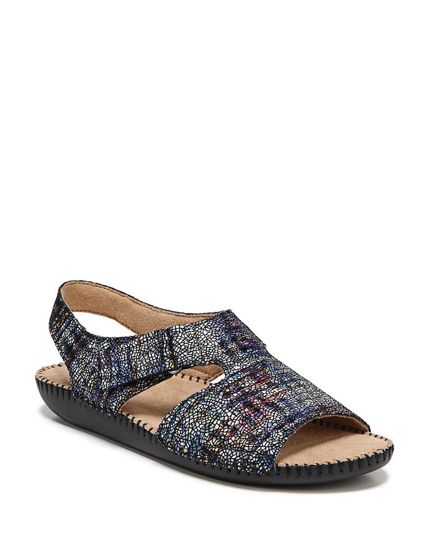 Natural Soul Blue Multi Flat Sandals
