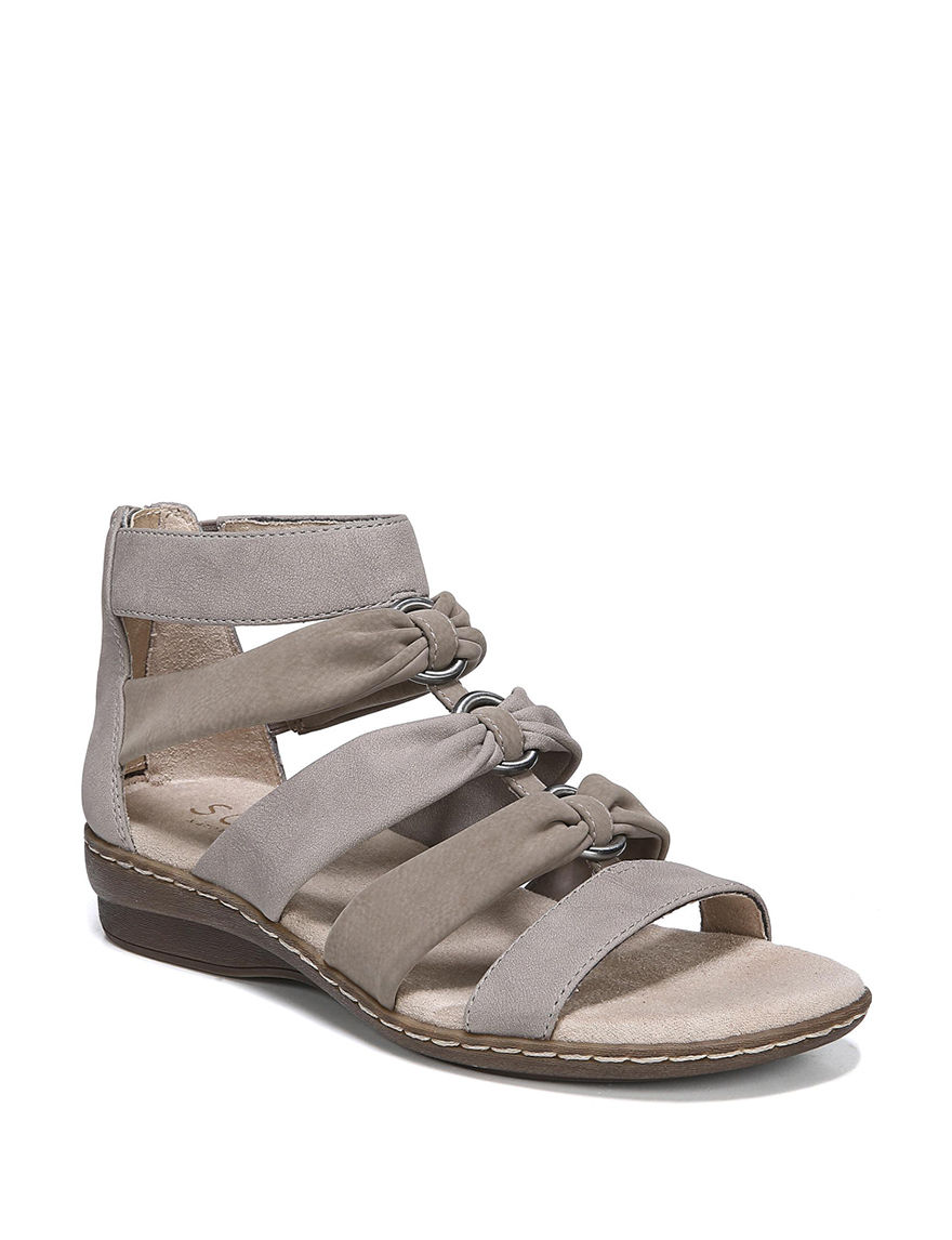 Natural Soul Grey Flat Sandals