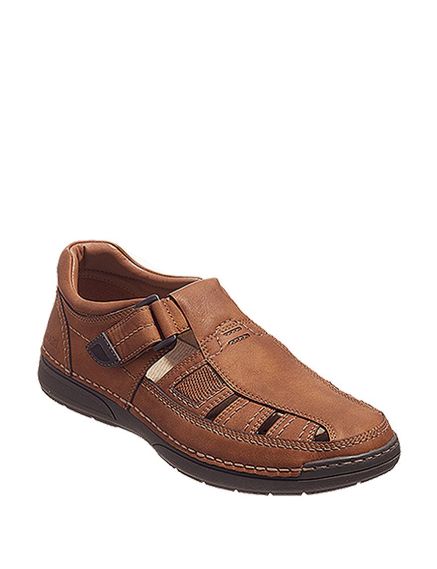 Izod Brown Fisherman Sandals