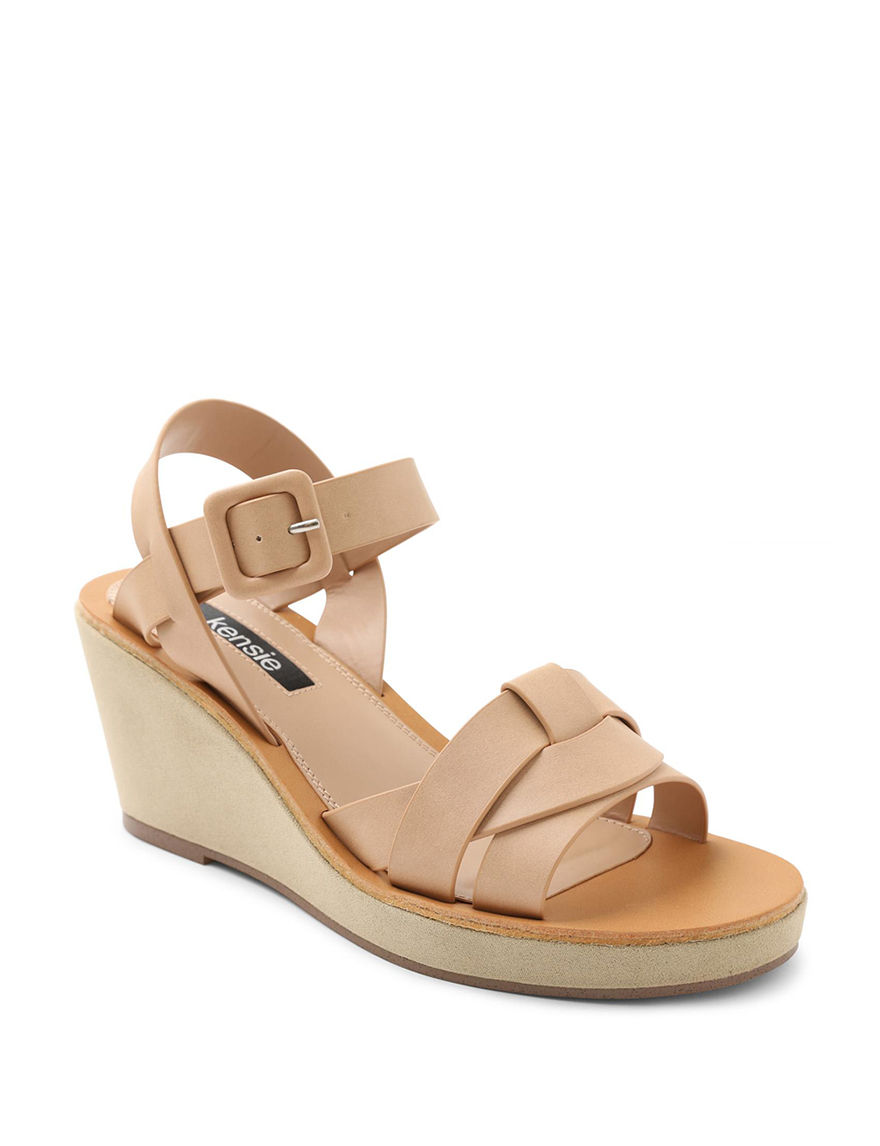 Kensie Natural Wedge Sandals
