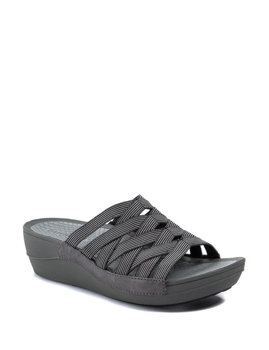 Baretraps Black Comfort Shoes Slide Sandals Wedge Sandals
