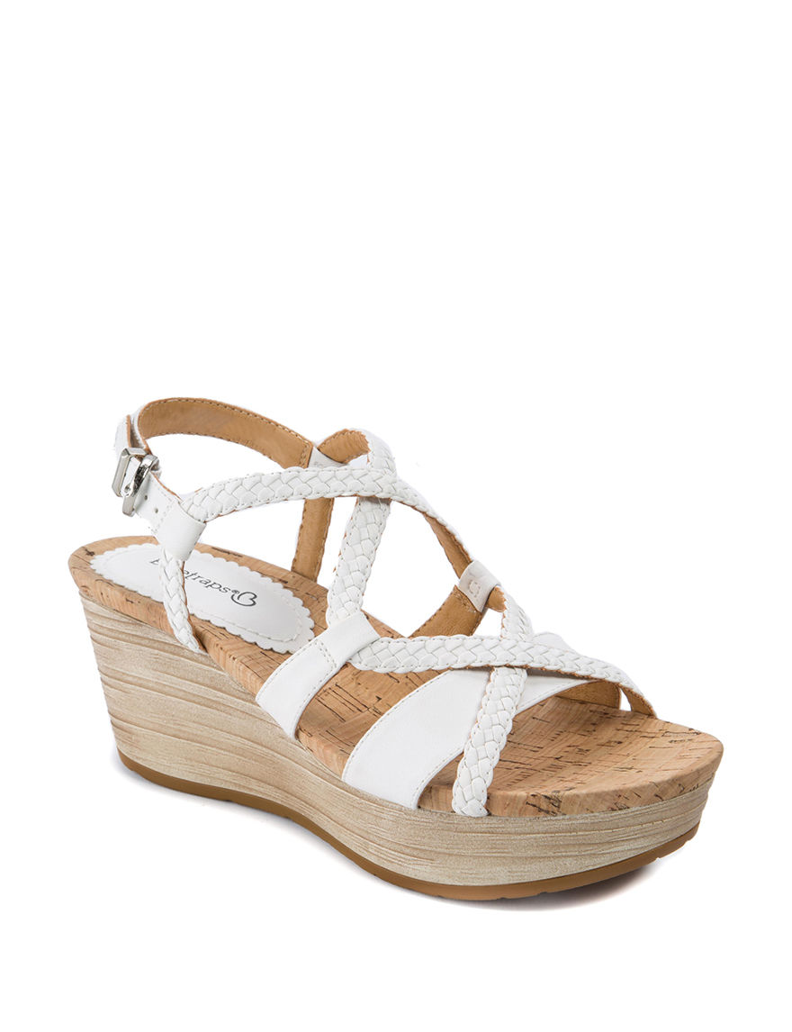 Baretraps White Wedge Sandals