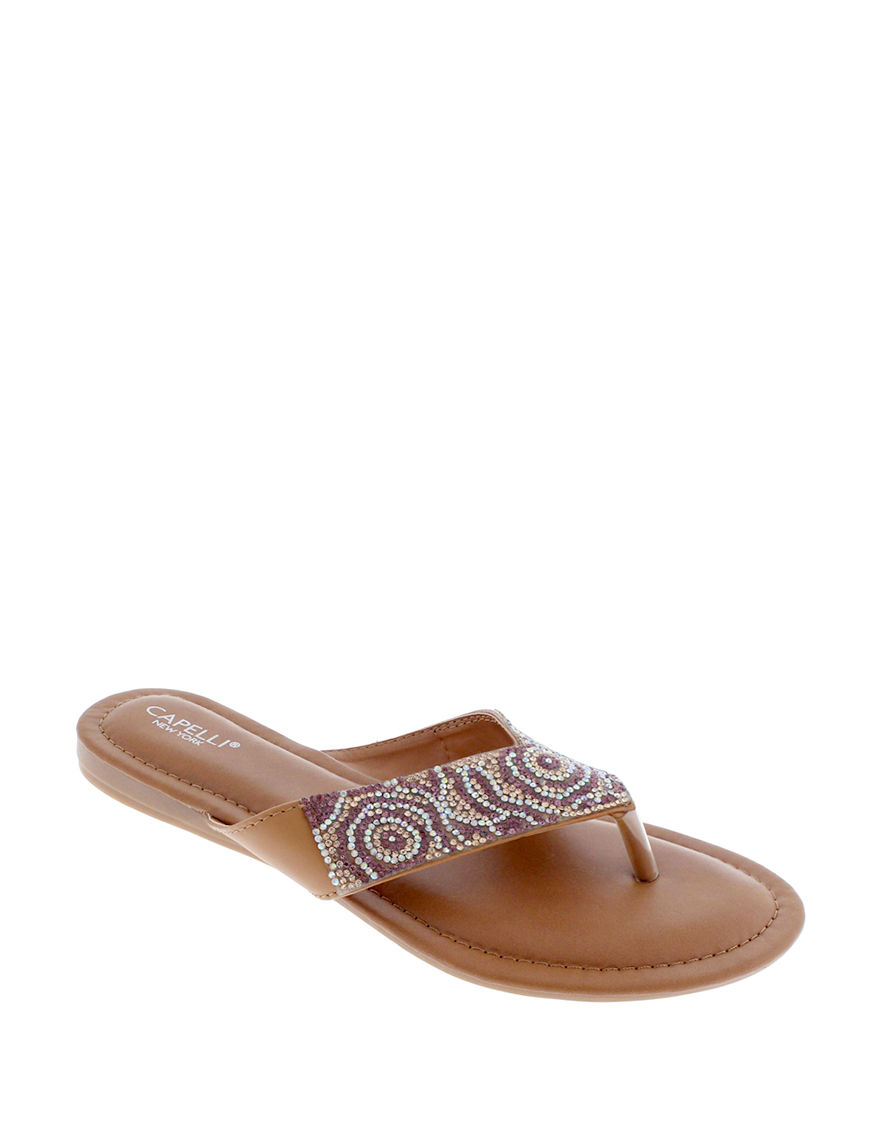 Capelli Brown Flat Sandals