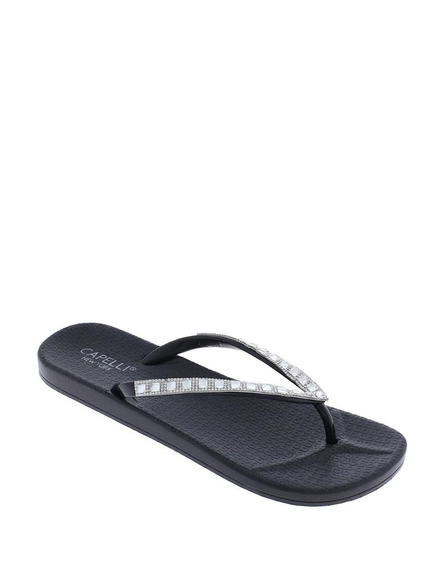 67bba9e38 Capelli Bling Rhinestone Jelly Sandals