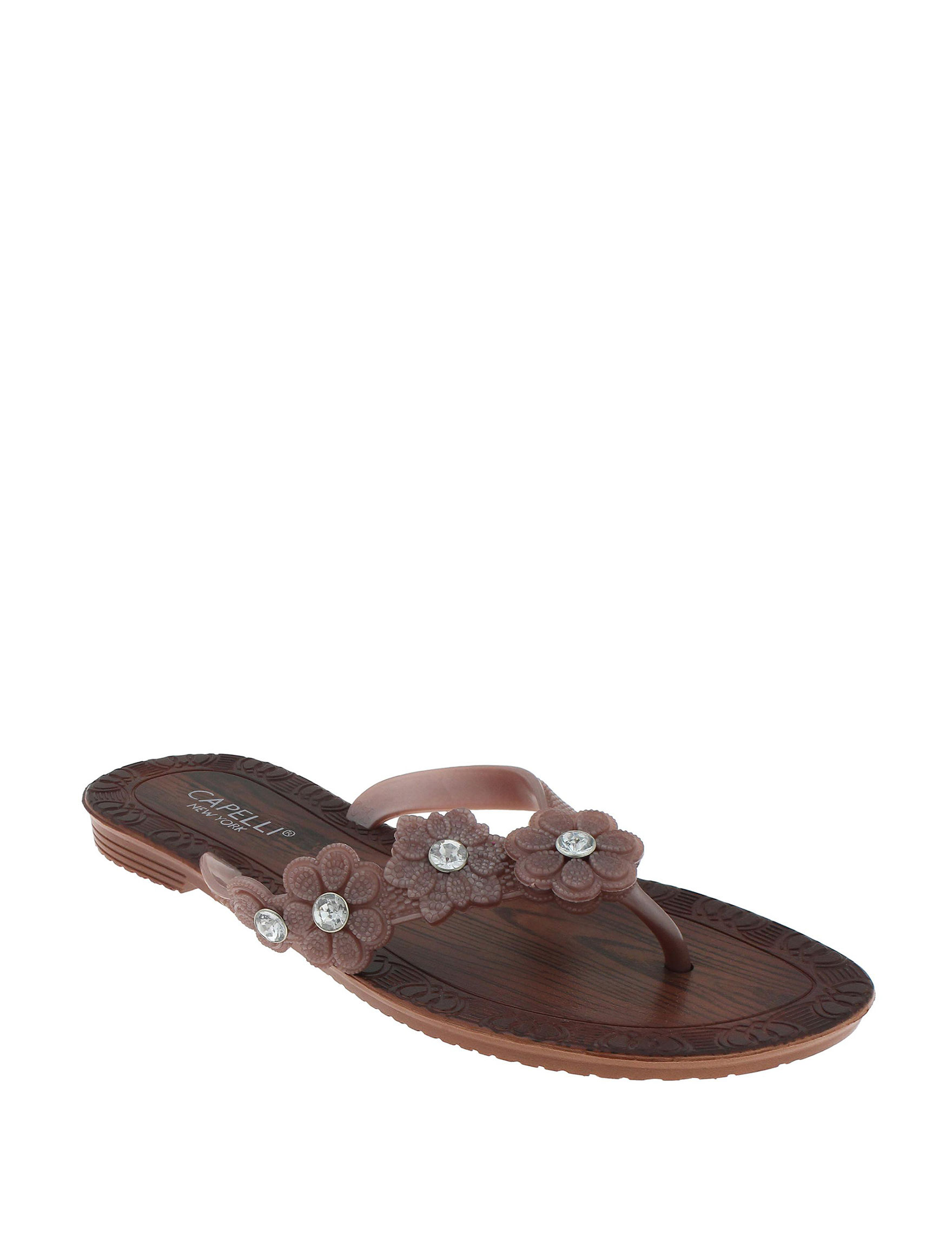 Capelli Rose Gold Flat Sandals
