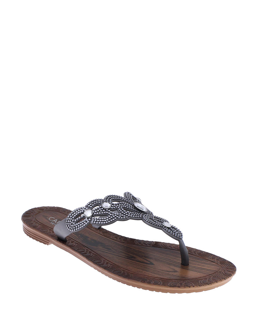 Capelli Grey Flat Sandals
