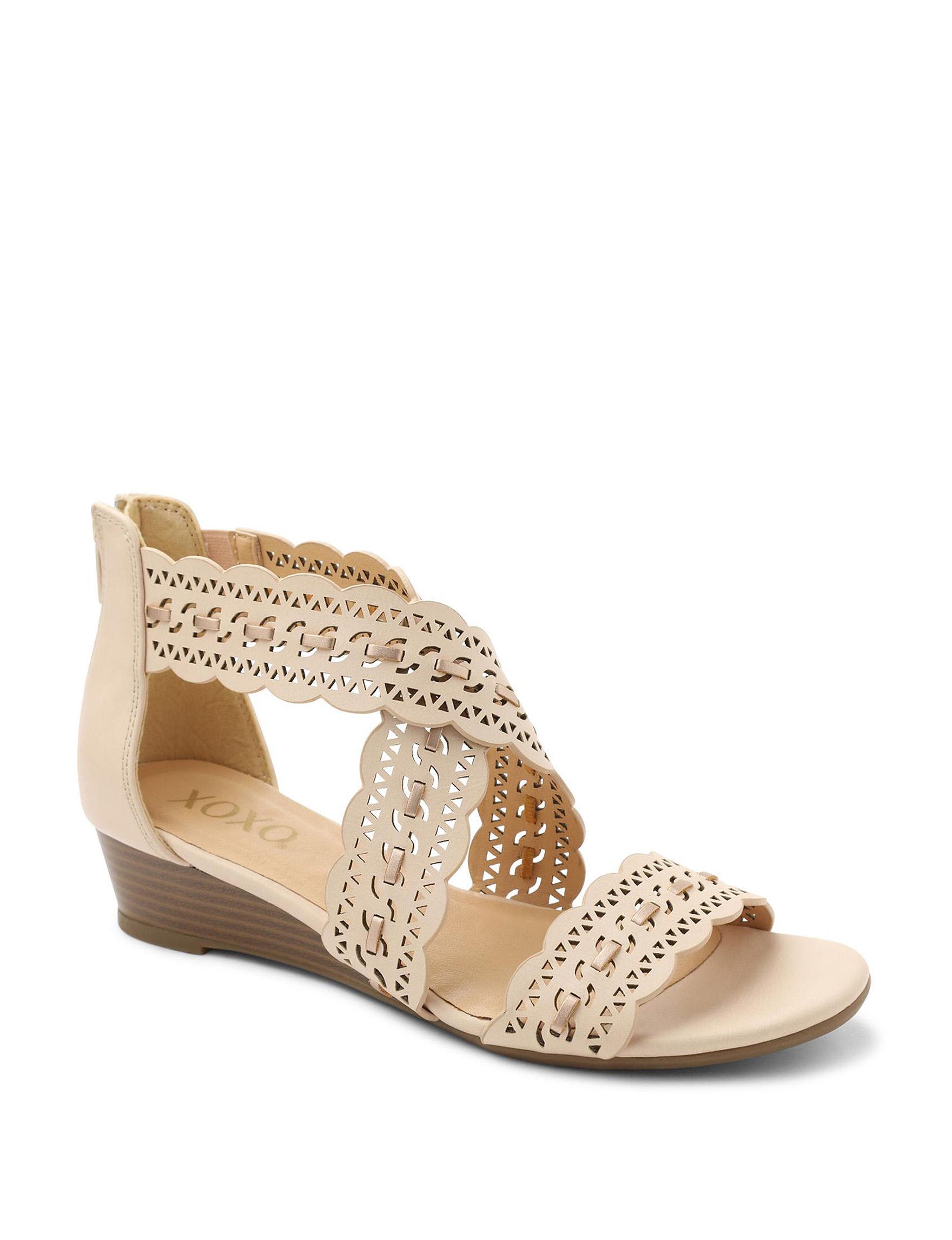 XOXO Beige Wedge Sandals