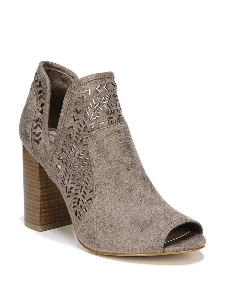 Fergalicious by Fergie Brown Ankle Boots & Booties Peep Toe